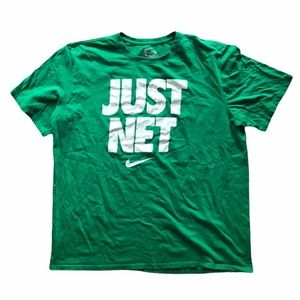 """Nike """"Just Net"""" Green and White T-Shirt"""